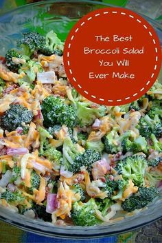 This Broccoli Salad recipe is a perfect addition to any meal. The dressing is delicious, and its very easy to make! This Broccoli Salad recipe is a perfect addition to any meal. The dressing is delicious, and its very easy to make! Summer Recipes, New Recipes, Cooking Recipes, Healthy Recipes, Family Recipes, Side Salad Recipes, Dinner Recipes, Vegetable Salad Recipes, Healthy Vegetarian Recipes