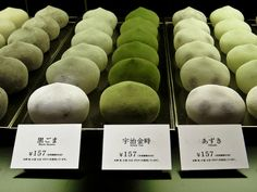 Mochi ice cream is a Japanese confection made from mochi (pounded sticky rice) with an ice cream filling. They come in all sorts of flavors including tea-inspired flavors like matcha and sakura. Japanese Sweets, Japanese Food, Cute Food, Yummy Food, Healthy Food, Comida Picnic, Mint Green Aesthetic, Mochi Ice Cream, Matcha Green Tea