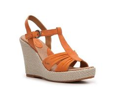 b.o.c Women's Maureen Wedge Sandal  $59.95 (also comes in yellow, taupe, and pink)