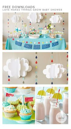 "Throwing a baby shower? Your decorations will be both incredibly cute and ridiculously easy, thanks to Hallmark designer Amber Goodvin's free downloads. Your ""Love Makes Good Things Grow"" baby shower will be almost as adorable as the celebrated baby him- or herself."