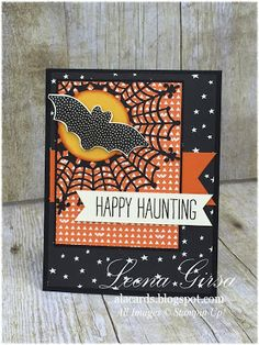 A La Cards - SU - Halloween card featuring the Cheer All Year stamp set and Happy Haunting DSP
