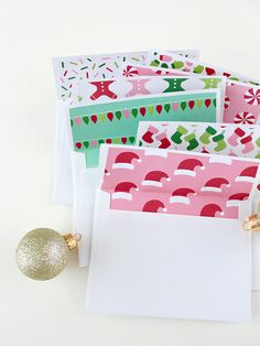 CHRISTMAS PAPER ENVELOPE LINERS | HOME :: White House Crafts