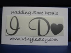 Something Blue For Your Shoe...I Do Heart Sticker Decal for Wedding in Silver. $5.00, via Etsy.