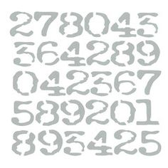 """*  Art Stencil - Numbers Background 6"""" x 6"""""""