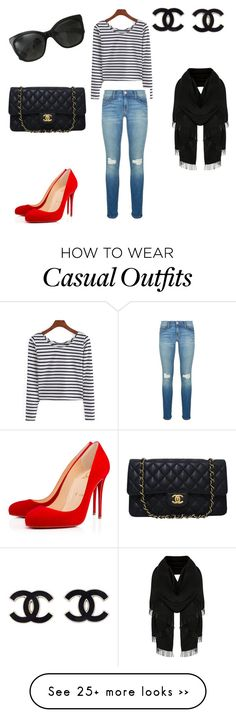"""casual"" by natalyalatriste on Polyvore featuring Rebecca Minkoff, Chanel and Christian Louboutin"