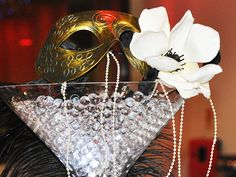 Centerpiece masquerade ball decorations | Masquerade Ball Decor