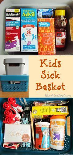 The Sick Kids Basket and a Pfizer Pediatric Bundle Giveaway - Kids health - children Sick Toddler, Sick Kids, Sick Day, Childhood Obesity, Cold Remedies, Kids Health, Children Health, Healthy Kids, Healthy Meals