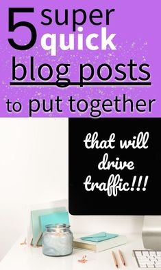 some weeks are harder than others to keep to a blogging schedule. In the past you may have just missed a post, but if you've done that you may find it easier to skip posts in the future.    To help you avoid missed (self-imposed) deadlines, in this post you're going to learn about 5 different kinds of posts that are quick to put together and publish.     Think of them as the blogging version of the meals you keep in the freezer.