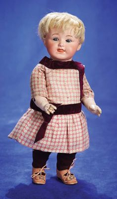 """Rare German Bisque Character, 8413, by Gebruder Heubach 12"""" ......toddler body"""