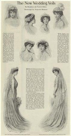 The new wedding veils of 1910.