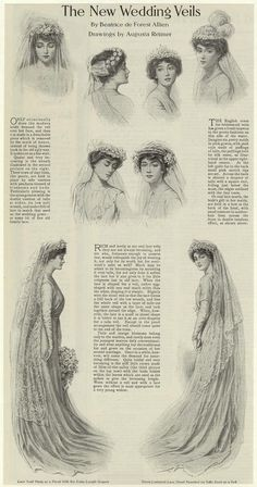 The new wedding veils of 1910