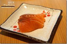 Salmon sashimi in Miraku Japanese Buffet Review