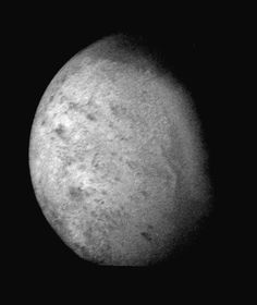 Triton, moon of Neptune, observed by the Voyager 2 space probe on August 24, 1989. (NASA)