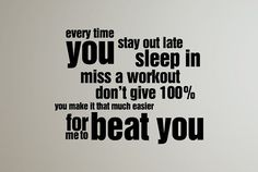 Sports quote Every time you stay out by InspirationsByAmelia, $18.98