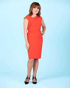 00add161 Lorraine Kelly Asymmetric Neckline Dress   J D Williams Jd Williams,  Necklines For Dresses, Lorraine