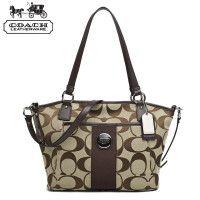 154d71ad36c COACH   Kou Chi handbag shoulder diagonal portable canvas bag leather bag  21899