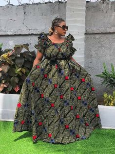 African Fashion, Shoulder Dress, Dresses, Gowns, Vestidos, African Wear, Dress, Gown, Outfits