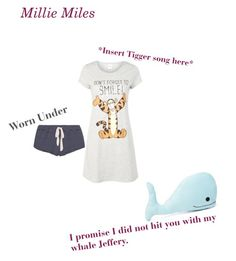 """""""Millie Miles Pajamas"""" by imaginestronger ❤ liked on Polyvore featuring Disney, Eberjey and Forever 21"""