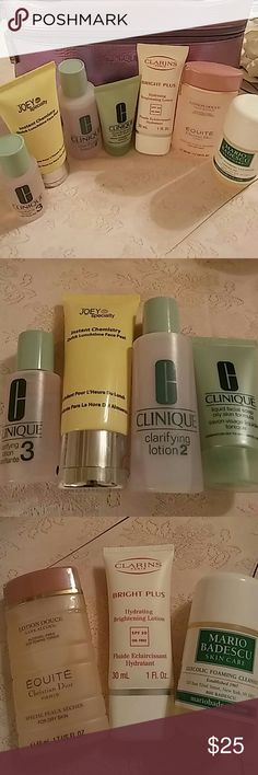 Clinique & Friends Collection Various products for skin care needs. Travel sizes. All unused. Dior still sealed. Clinique bag also unused. Makeup