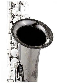 Thomann Handmade Tenor Sax MK I, red brass body, luxuriant flowers engraving, black nickel plated body, silver plated thomann keys #thomann #saxophone