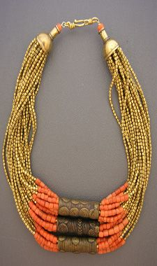 Love the coral and gold together