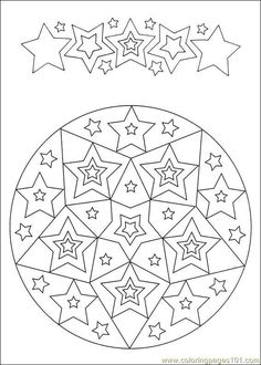 star mandala coloring  |   Crafts and Worksheets for Preschool,Toddler and Kindergarten