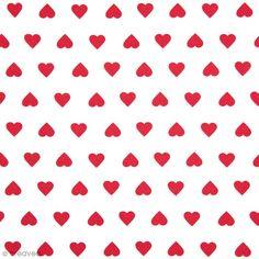 Tissu Rico Design - Coeur rouge - A la coupe par 10 cm (sur mesure) - Tissu au mètre - Creavea