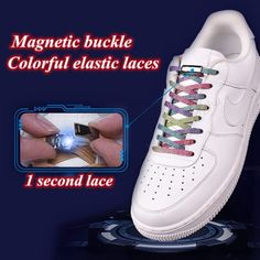 No Tie Elastic Shoelaces With Magnetic Shoe Laces Lock 9 Oliver Smith, Elastic Shoe Laces, Oct 14, Nike Air Force, Magnets, Sneakers Nike, Tie, Best Deals, Shoes