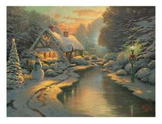 He is notable for the mass marketing of his work as printed reproductions and other licensed products via The Thomas Kinkade Company. Description from pinterest.com. I searched for this on bing.com/images