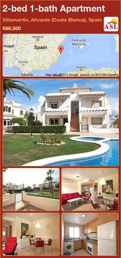 2-bed 1-bath Apartment in Villamartin, Alicante (Costa Blanca), Spain ►€88,500 #PropertyForSaleInSpain