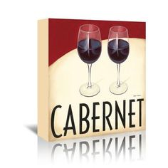 "East Urban Home Cabernet by Marco Fabiano Graphic Art on Wrapped Canvas Size: 20"" H x 20"" W x 1.5"" D"