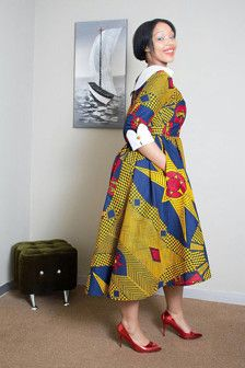 Cotton African print dress perfect for casual and corporate/formal functions African Print Clothing, African Shirts, African Print Dresses, African Print Fashion, African Dress, Tribal Fashion, Africa Fashion, African Attire, African Wear