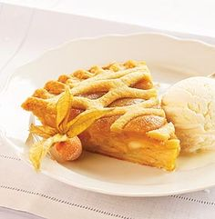 CARAMEL APPLE PIE. Beneath the lattice crust of this delectable pie ...