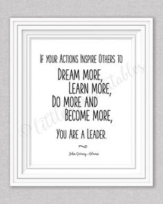 Leadership quote wall art printable If by littlebearprintables