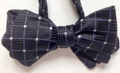 Silk Bow Tie - HAPPY JOE Black - One-of-a-Kind, Handcrafted for Men - Freestyle