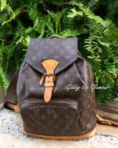 Authentic Used Louis Vuitton Montsouris GM Backpack in Monogram                                                                                                                                                                                 More
