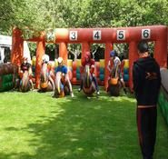 Book our inflatable derby hoppers race for your corporate family fun day in London & the UK.