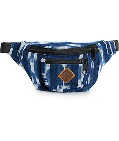 b8e3f82a91b3e Free up your hands while keeping you essentials stored and secure with this  indigo woven fanny