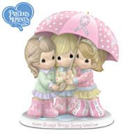 Precious Moments Breast Cancer Charity Friendship Figurine