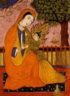 Boston Review — Haroon Moghul: Son of Mary. Persian miniature of Mary and the infant Jesus.
