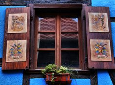 Window View, Window Art, French Windows, Antique Doors, Alsace, Whimsical, Sweet Home, France, Antiques