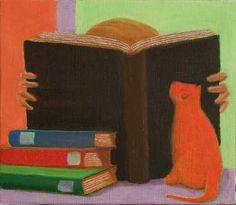 Immersed in reading / Sumergido en la lectura (ilustración de Nicola Vitale)