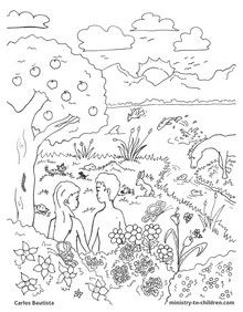 Creation Coloring Sheet from the Bible