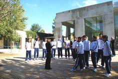 The German Under-18 football squad on the Yad Vashem campus