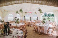 marquee at garden wedding