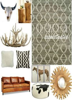 Modern Southwestern Mood Board ... And a Rug Giveaway! #StyledbyKalaty #ad