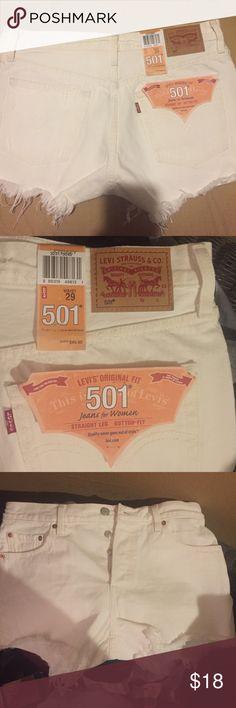 New original 501 Levi's shorts. New, white Levi's shorts. Levi's Shorts Jean Shorts