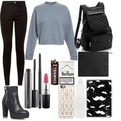 Untitled #4 by loloweed on Polyvore featuring polyvore fashion style Acne Studios Miss KG Casetify MAC Cosmetics Seletti Montblanc
