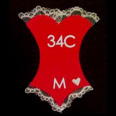 Adorable bachelorette party invites w/ measurements!