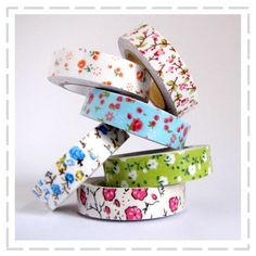 Floral Printed Fabric Tapes by The Haby Goddess